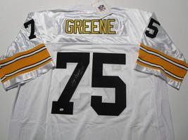 JOE GREENE / NFL HALL OF FAME / AUTOGRAPHED SEELERS WHITE THROWBACK JERSEY / COA