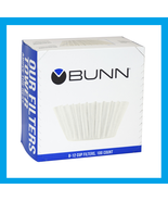 New! 100ct BUNN Coffee Tea Filters Home Brewer 8-10 Cup Makers Funnels B... - $7.45