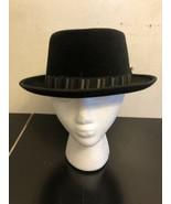 Vtg Dunlap Supreme Imperial Quality Black Hat Velour Abraham&straus 6 7/8 - $19.80