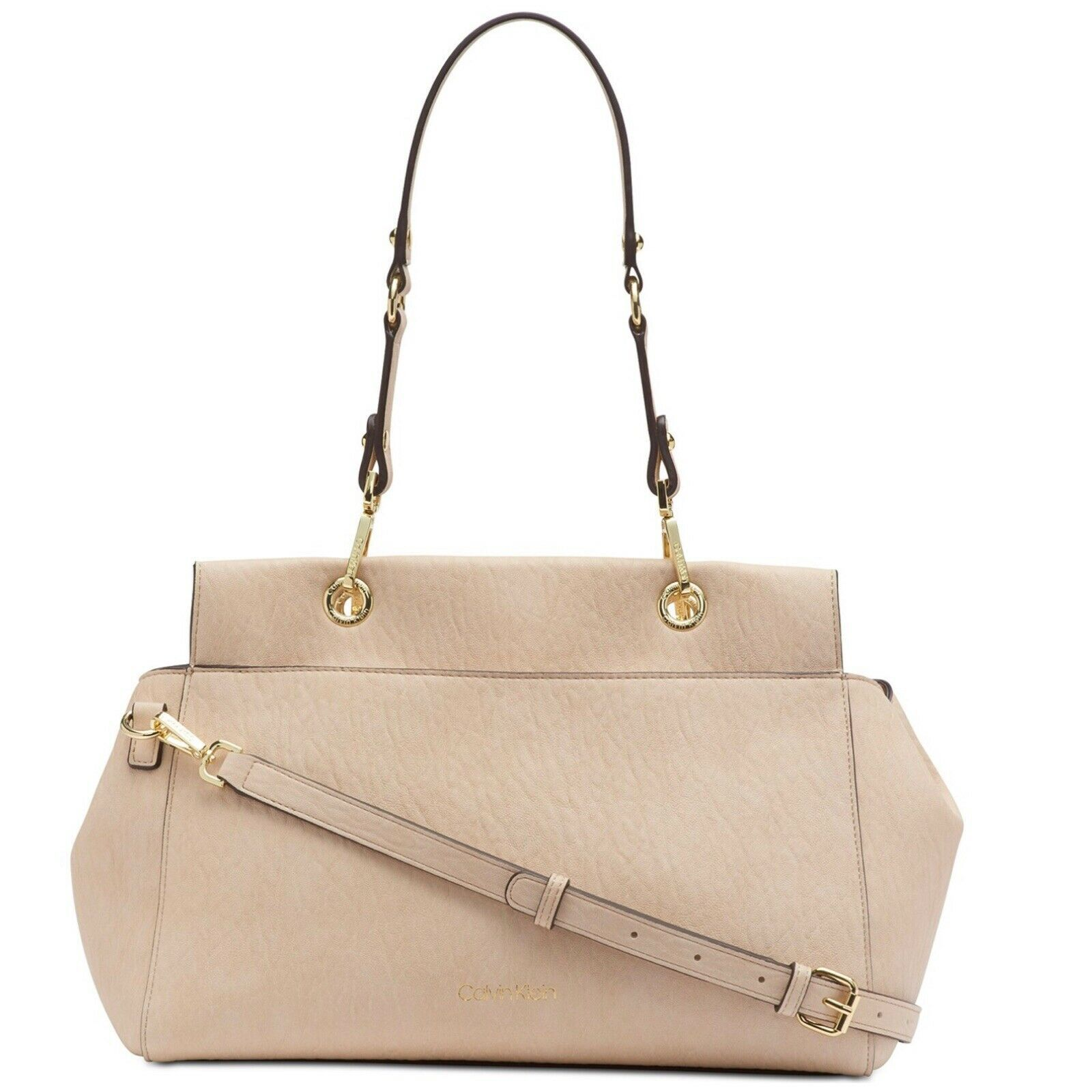 NWT Calvin Klein Sonoma Bubble Lamb Novelty Satchel Light Sand / Gold  $158 - $98.41