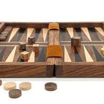 "Backgammon Set, 12"" x 10"" Classic Board Game Case, Backgammon Strategy B... - £30.54 GBP"