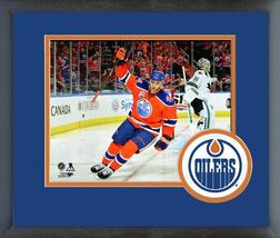 Zack Kassian 2016-17 Edmonton Oilers Action-11x14 Team Logo Matted/Framed Photo - $42.95