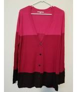 Gap colorblock boyfriend rayon cardigan, size L - $20.00