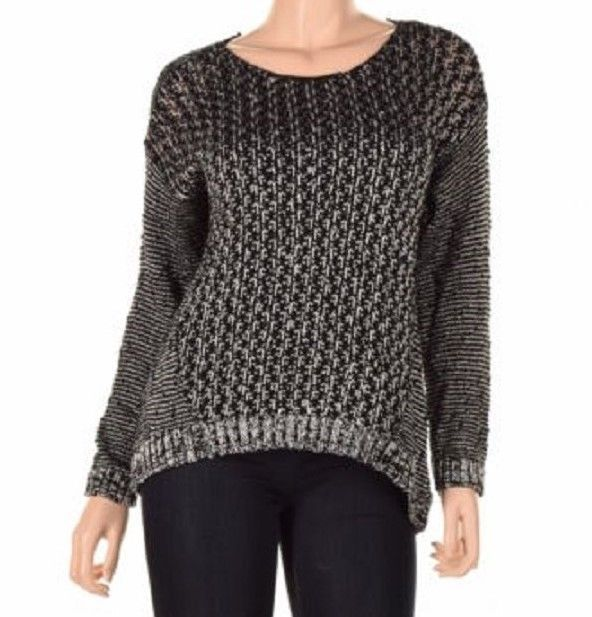 Two By Vince Camuto A Knitted Sweater With A Relaxed Fit, Black, Sz. XSmall