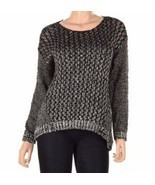 Two By Vince Camuto A Knitted Sweater With A Relaxed Fit, Black, Sz. XSmall - £31.94 GBP