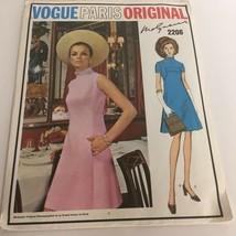 Vogue Paris Original Sewing Pattern 2206 Molyneux A-Line Dress 10 1960s ... - $17.99