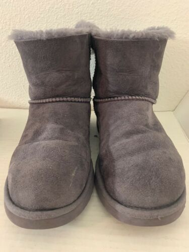 Primary image for UGG Australia Super Short #1005062 Grey Sheepskin Winter Boots Size 7 Shoes