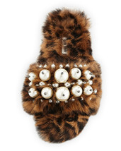 Miu Miu Pearly Fur Slide Sandals, Leopard Size 38 MSRP: $990.00 - $593.99