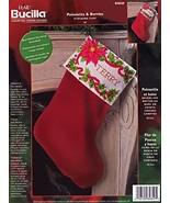 "Bucilla Poinsettia & Berries 18"" Stocking Counted Cross Stitch Kit 84849 - $49.99"