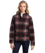 WOOLRICH Womens S/SMALL MAPLE RUN Button UP WOOL Quilt Lined BLACK PLAID... - $50.11