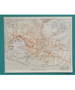 "1934 MAP 6 x 8"" (15 x 20 cm) - GENOA Genova City Plan Italy - $21.60"