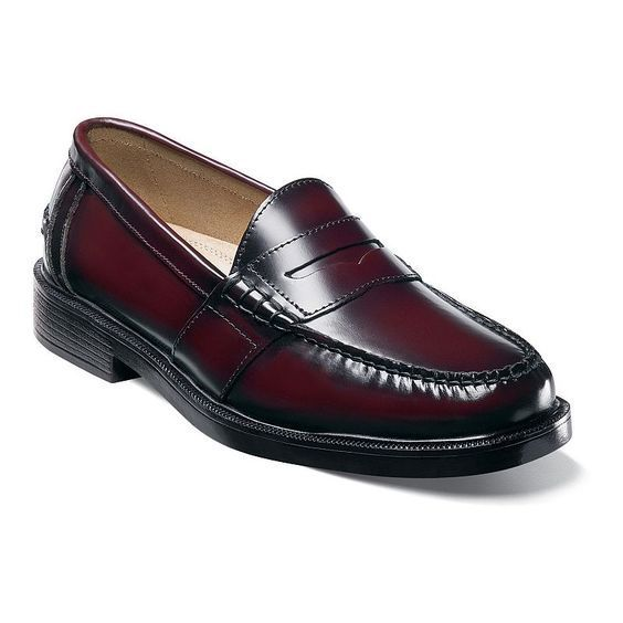 Handmade Men Burgundy Slip Ons Loafer Shoes