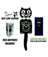 "GLOW in the DARK KIT CAT CLOCK 15.5"" Classic Black Free Battery Made in ... - $63.18"