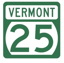 Vermont State Highway 25 Sticker Decal R5280 Highway Route Sign - $1.45+