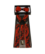 Blood Spill Suspenders and Bowtie Set for Halloween or any spooky event - $11.87
