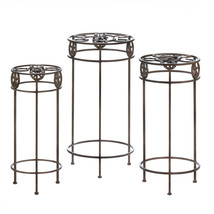 Tall Plant Stand, Table Plant Stand For Office And Patio (set Of 3) - $126.79