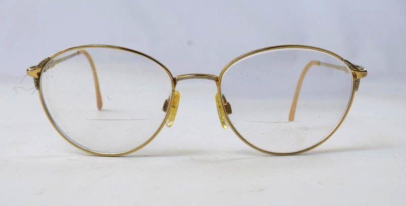 c355e3d3ad Tura Gold Tone Rim Oval Eyeglasses Frame 53 and 14 similar items