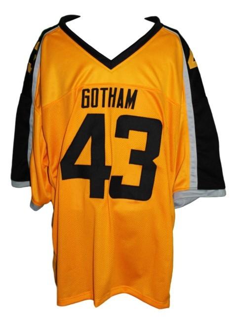 Troy polamalu  43 gotham rogues new men football jersey yellow any size 2