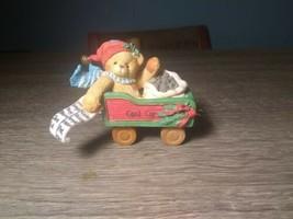 Cherished Teddies - Colin - Coal Car Figurine - 219088 - 1996 - $9.87