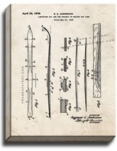 Laminated Ski Patent Print Old Look on Canvas - $39.95+