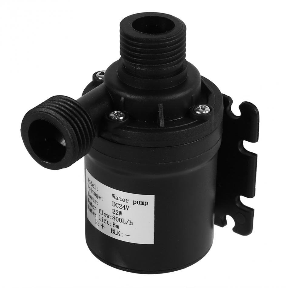 1357ef59e31 T water pump dc 24v hot water circulation pump solar energy brushless motor  aquarium submersible