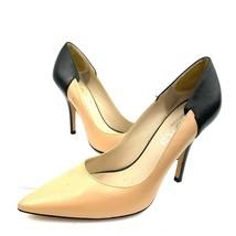 KORS Michael Kors Brown Black Leather Classic Pumps Women's 8 Med - $34.64