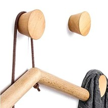 3 PCS,Natural Wooden Coat Hooks,Wall Mount Single Hat Bag Hooks,Decorative Cone  image 1