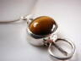 New Tiger Eye 925 Sterling Silver Pendant Corona Sun Jewelry - $2.96