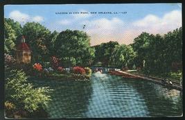 Lagoon in City Park New Orleans LA Vintage E.C. Kropp Vintage 1942 Postcard - $4.99