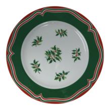 Sigma Noel Christmas Dinner Plate Holly Red Green Holiday TasteSetter 1... - $10.44