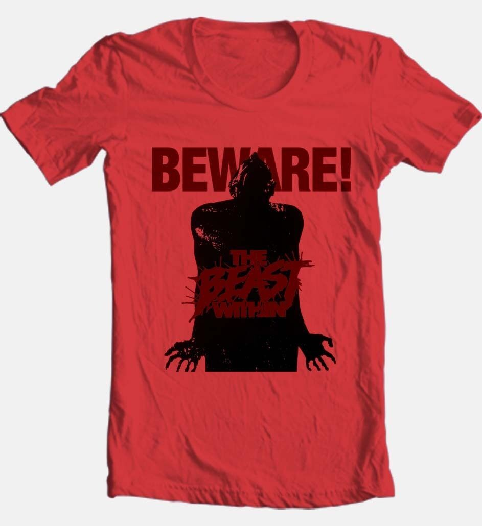 The Beast Within T-shirt retro 80's slasher horror movie 100% cotton graphic tee