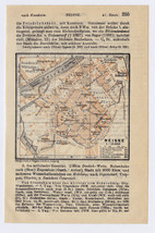 1914 ORIGINAL ANTIQUE MAP OF NEISSE NYSA SILESIA SCHLESIEN POLAND GERMANY - $22.18