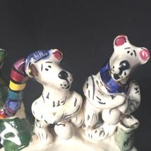 Vintage Blue Sky Marshmellow  Bears Around A Campfire Ceramic Heather Go... - $15.83