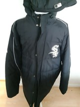 Chicago White Sox Majestic Jacket Coat Long Puffy Size Large Stitched Au... - $142.03