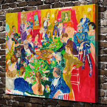 "Leroy Neiman ""Casino table"" HD Print on canvas large wall picture 28x24"" - $46.52"