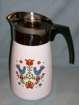 Vtg Corning COUNTRY FESTIVAL Friendship Stove Top 10 Cup Percolator P149 Birds image 15