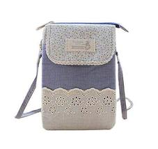 Fashion Cell Phone Cross Body Bag Utility Zipper Coin Bag Messenger Bag, Blue