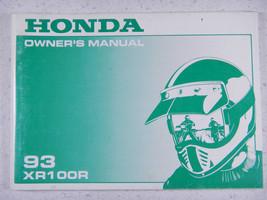 93 Honda XR100R Nos Oem Original Driver's Owner's Manual - $35.88