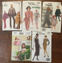 You Pick Uncut Vogue Misses' Ladies Craft Child patterns U Pick some Vin... - $2.50