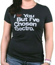Women's I Love You But I've Chosen Electro Music 100% cotton Black T-Shirt NEW image 2