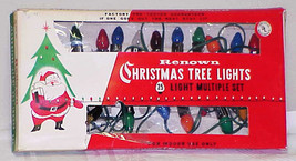 Vintage C-7 Christmas Tree Lights Set of 25 by Renown IOB #1 - $14.99