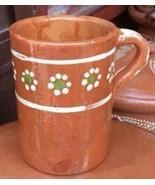 2 X Tarro De Barro Beer Mug Mexican Floral Traditional Handmade Painted ... - $24.95