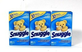 3 Boxes Snuggle Cuddle Up Fresh Reduces Static Cling 80 Fabric Softener ... - $29.99