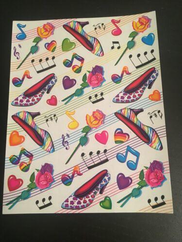 Vintage Full Sheet Lisa Frank Vintage Stickers Neon high heels GLOSSY