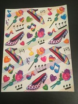 Vintage Full Sheet Lisa Frank Vintage Stickers Neon high heels GLOSSY