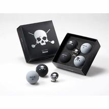Volvik Skull Edition Golf Balls 4 Balls w Ball Marker Hat Clip - $32.75