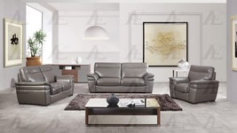 American Eagle EK020 Modern Taupe Italian Leather/Leather Match Sofa Set... - $2,850.00