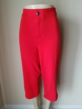 Lane Bryant Women's Pants Red Cotton Blend Casual Stretch Size 28 - $22.31