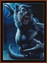 JUST TURNED cross stitch pattern (punto cruz) [werewolf] - $13.75
