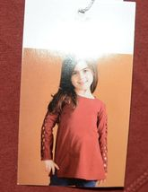Simply Noelle Curtsy Couture Girls Cutout Long Sleeve Shirt Paprika Size 2T image 6